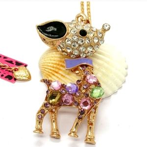 New Betsey Johnson reindeer necklace